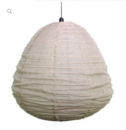Nendo Large Fabric Pendant Shade - Natural