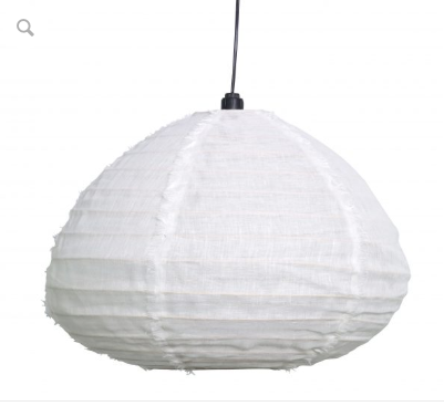 Nendo Fabric Pendant Light -Medium - Marshmallow