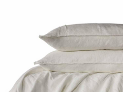 Linen Duvet Set - Queen White