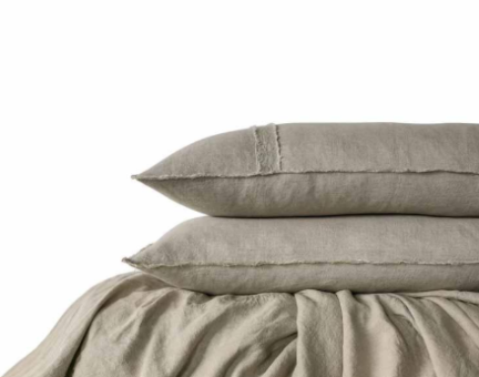 Linen Duvet Set -Queen size Natural