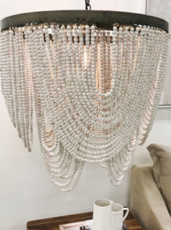 Byron Bay Wooden beaded chandeliers pendant lights