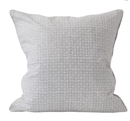 Walter G Batik Chalk Linen Cushion
