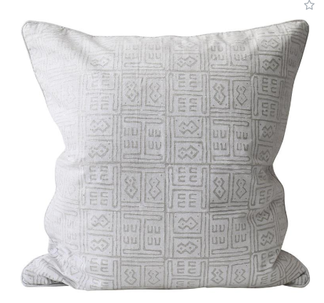 Walter G Kuba Chalk Linen Cushion
