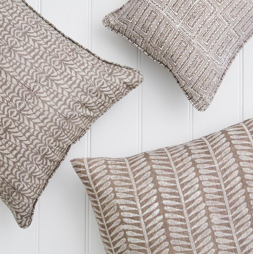 Walter G Panarea Mud Linen Cushion