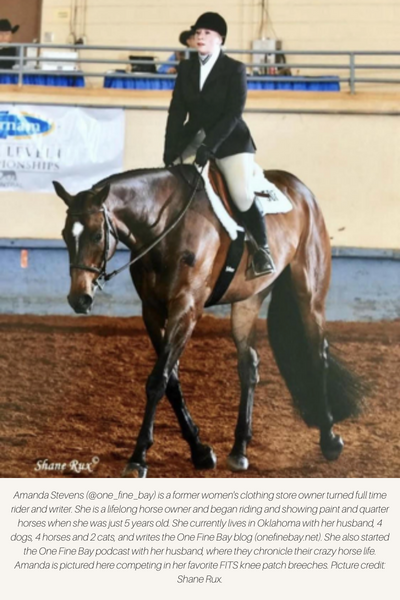 Girl riding English pleasure in knee patch breeches