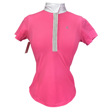 Horze Allison Functional Show Shirt in Hot Pink - Women's US 4 | XS