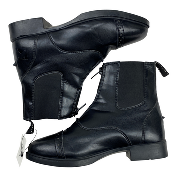 Side of Riding Sport Provenance Zip Paddock Boots in Black