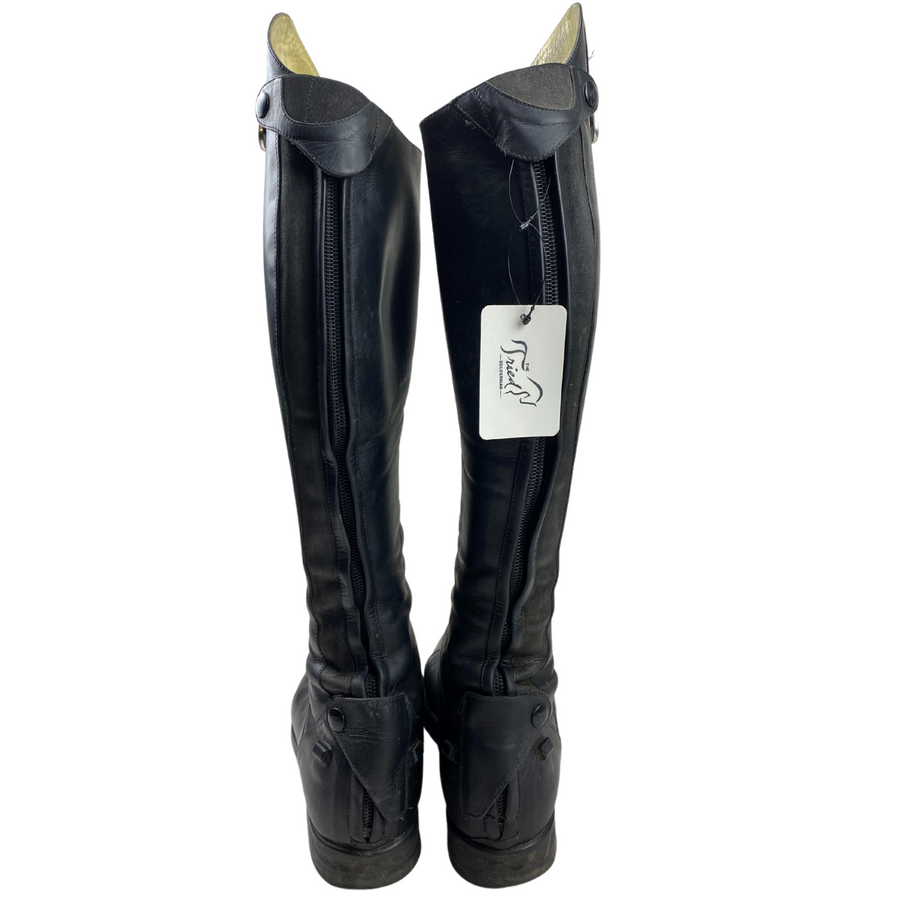 Back of Tucci Galileo Field Boots in Black