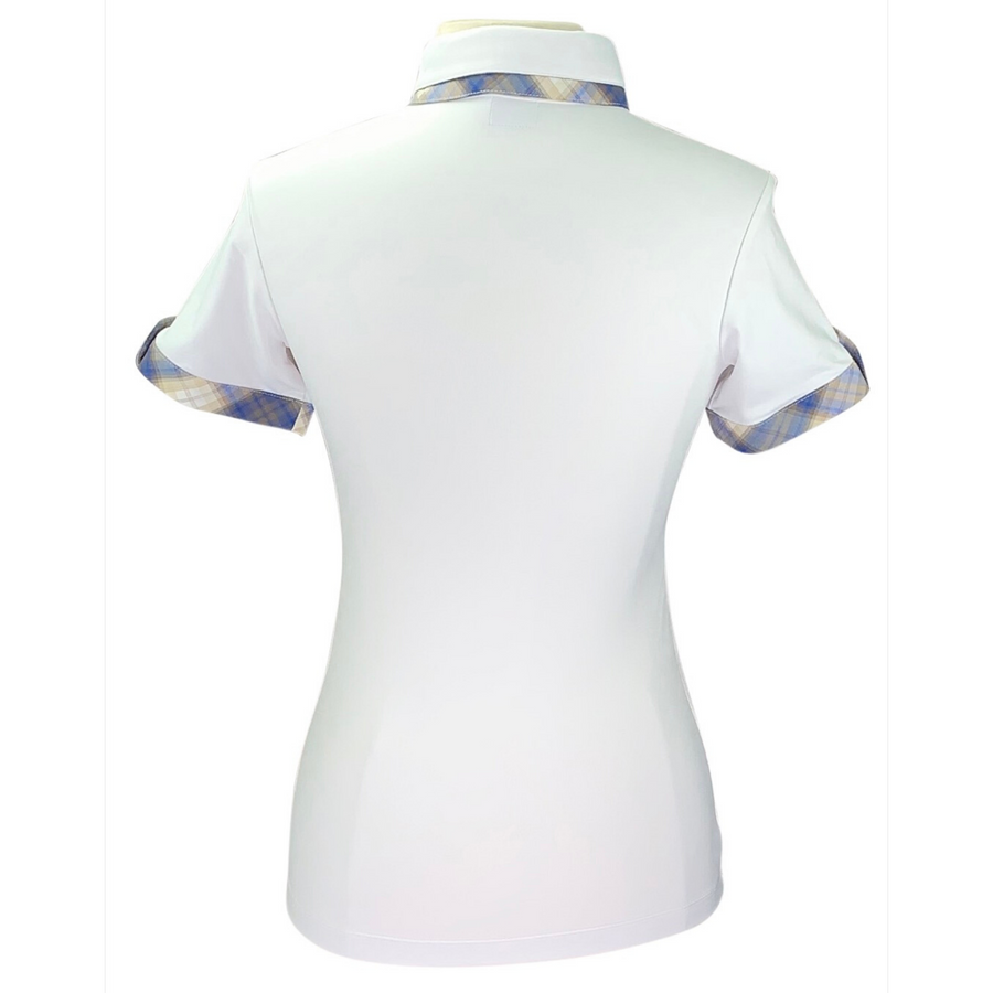Back of Animo BILLA Short Sleeve Polo in White