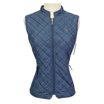 Romfh Hampton Quilted Vest in Navy Plaid
