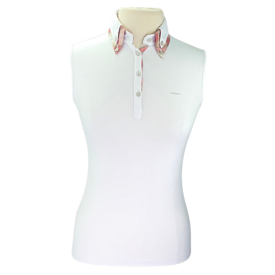 Animo BVIP Sleeveless Polo in White