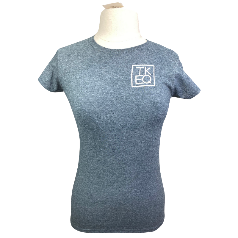 TKEQ Ring Crew Tee in Heather Charcoal - Women's Large