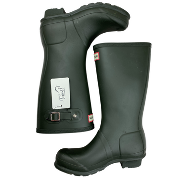 Hunter Original Tall Rain Boots in Hunter Green - Children's 3