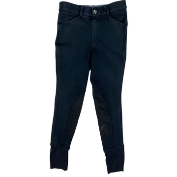 Tuff Rider Starter Pull On Breeches in Black - Boy's 12