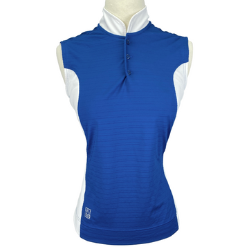 Kate Lord Sleeveless Jersey in Blue/White - Women's Small