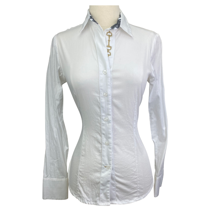 Ronner Button Up Shirt in White - Women's XS