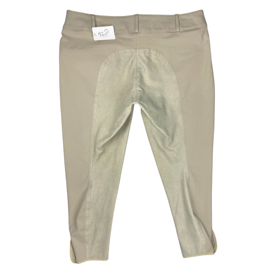 Back of Tailored Sportsman Full Seat Breeches in Tan.