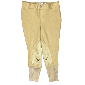 Front of Tuff Rider Starter Pull On Breeches in Tan