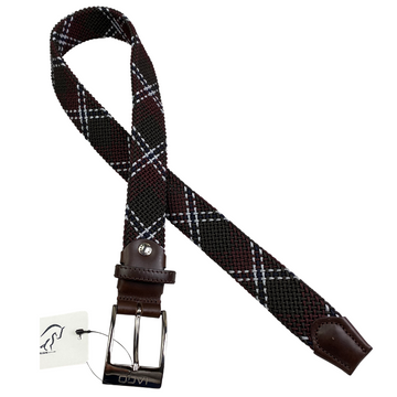 Iago Woven Belt in Burgundy/Brown/Multi - XS/S