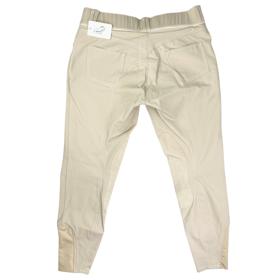 Back of Elation Platinum 'Brooklyn' Breech in Tan - Women's 32R