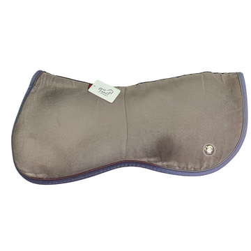 Ogilvy Equestrian Half Pad in Grey/Grey and Blue Piping