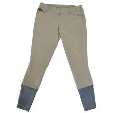 Winston Equestrian Knee Patch Breeches in Ash