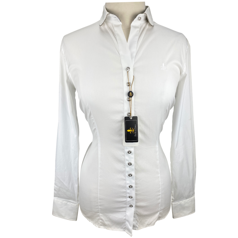 Front of Fior Da Liso Adonia Shirt in White