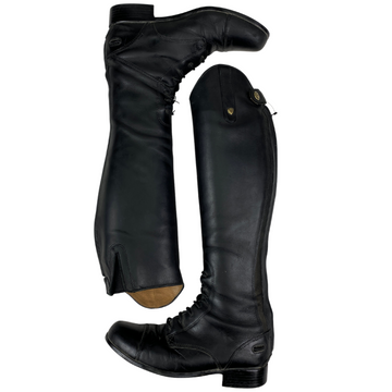 Ariat Heritage Contour Field Zip Tall Boots in Black - Children's 4 (Med/Slim)