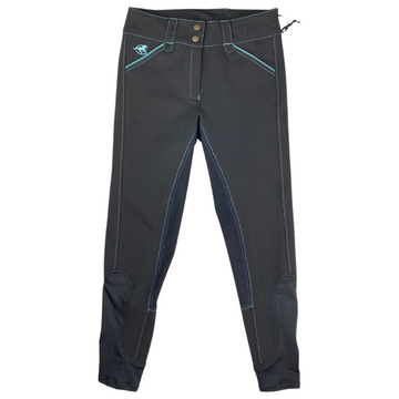Piper Full Seat Breeches in Black/Teal - Women's 26R
