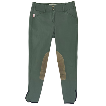 Tailored Sportsman Trophy Hunter Breeches in Loden Green/Tan Patch