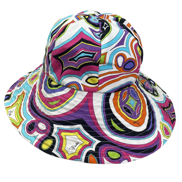 Emilio Pucci Printed Wide Brim Hat in Multicolored