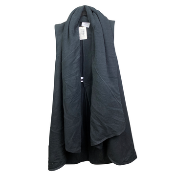 Hanging Two Bits Equestrian The Drape Vest in Black - Women's 1 (S/M)