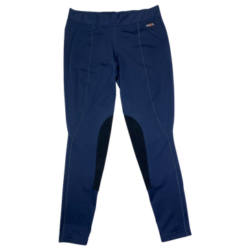 Kerrits Flow Rise Knee Patch Performance Tight in Navy