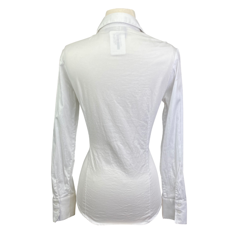 Back of Ronner Button Up Shirt in White - Women's XS