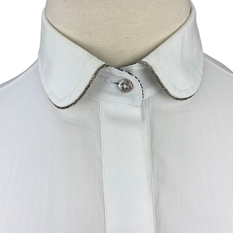 Detail of Fior Da Liso Adonia Shirt in White