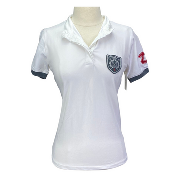 Horze Competition Polo in White