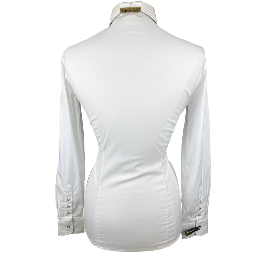 Back of Fior Da Liso Adonia Shirt in White