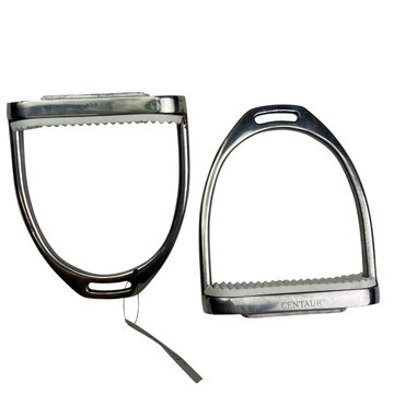 Other side of Centaur Fillis Stirrup Irons in Stainless Steel - 4 3/4