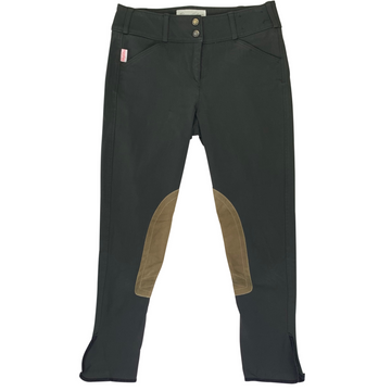 Tailored Sportsman Trophy Hunter Breeches in Black Olive/Tan