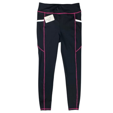 Front of Dover Saddlery Coolblast Tights in Black/Pink
