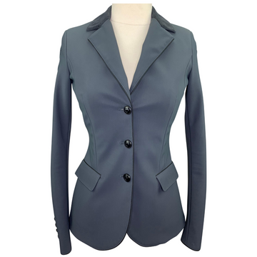 Cavalleria Toscana GP Competition Jacket in Charcoal/Black Piping