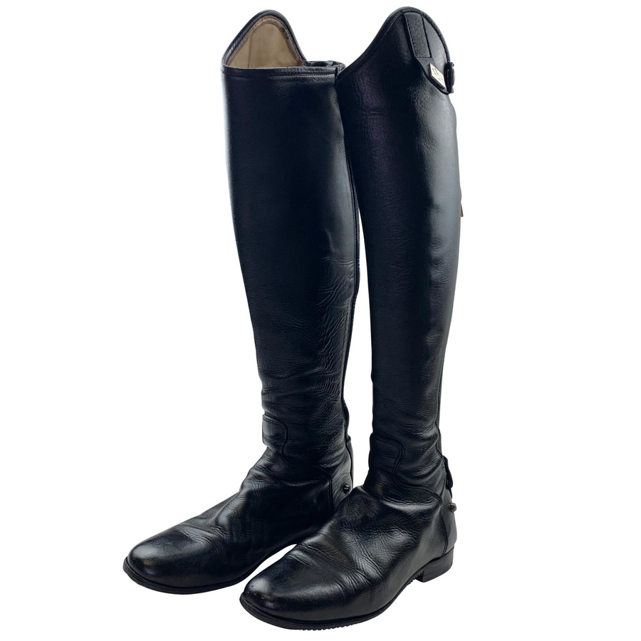 Standing view of Fabbri Pro Dress Boots in Black