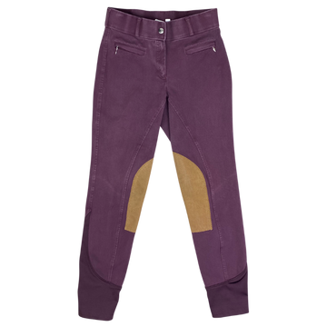 Dover Saddlery Knee Patch Breeches in Wine