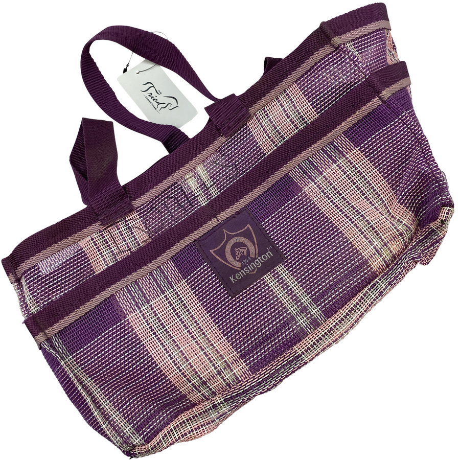 Kensington Grooming Tote Bag in Purple Plaid