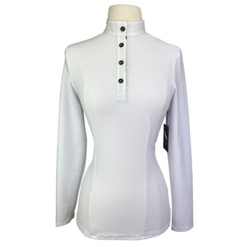 Levade Clothier 'Annabelle' Shirt in White/Black - Women's Large