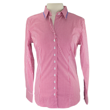 Essex Classics Dora Long-Sleeve Shirt in Red Plaid