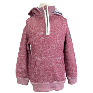 Horseware 1/4 Zip Hoodie in Heather Burgundy