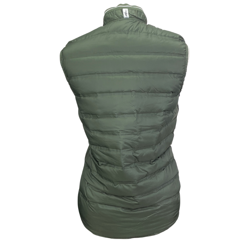 Back of AA Platinum Livorno Padded Vest in Army Green - Men's Medium