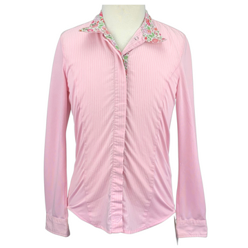 Ariat Pro Series Show Shirt in Pink/Stripes