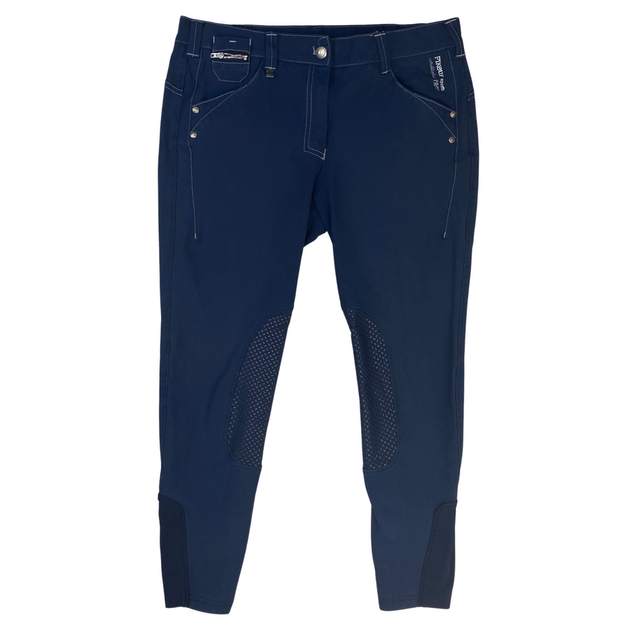 Front of Pikeur Acina Knee Grip Breeches in Navy
